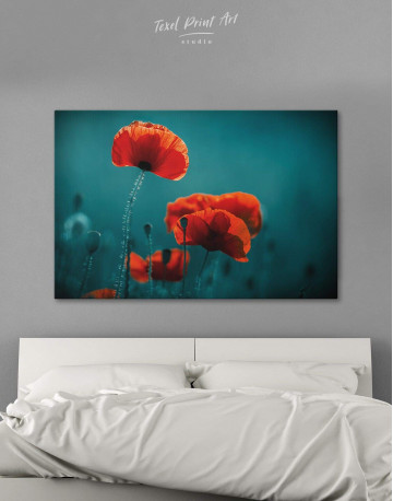 Red Poppy Canvas Wall Art
