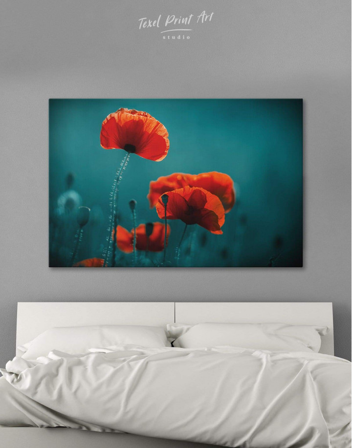 Red Poppy Canvas Wall Art - Image 0