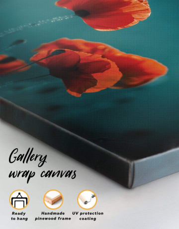 Red Poppy Canvas Wall Art - image 3
