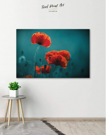 Red Poppy Canvas Wall Art - image 1
