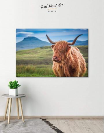 Shaggy Cow Canvas Wall Art