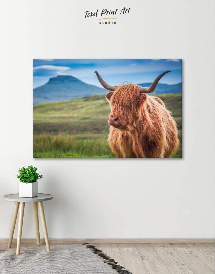 Shaggy Cow Canvas Wall Art - Image 0