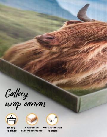 Shaggy Cow Canvas Wall Art - image 3
