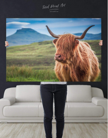 Shaggy Cow Canvas Wall Art - image 2
