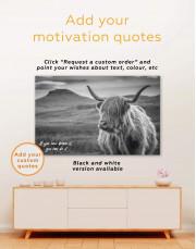 Shaggy Cow Canvas Wall Art - Image 1