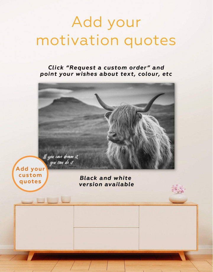 Shaggy Cow Canvas Wall Art - Image 6