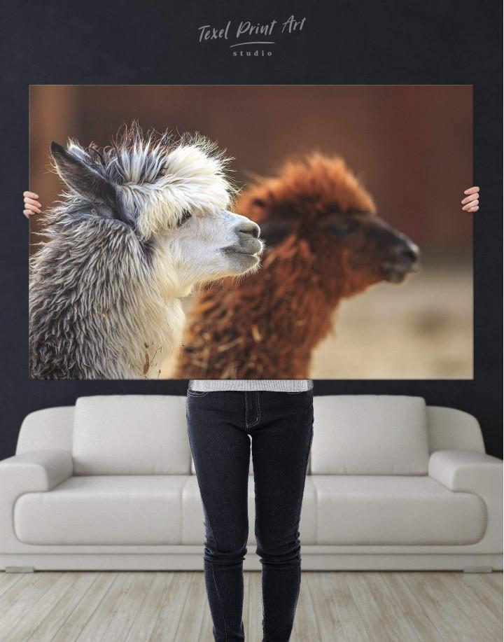 Llama Canvas Wall Art - Image 2