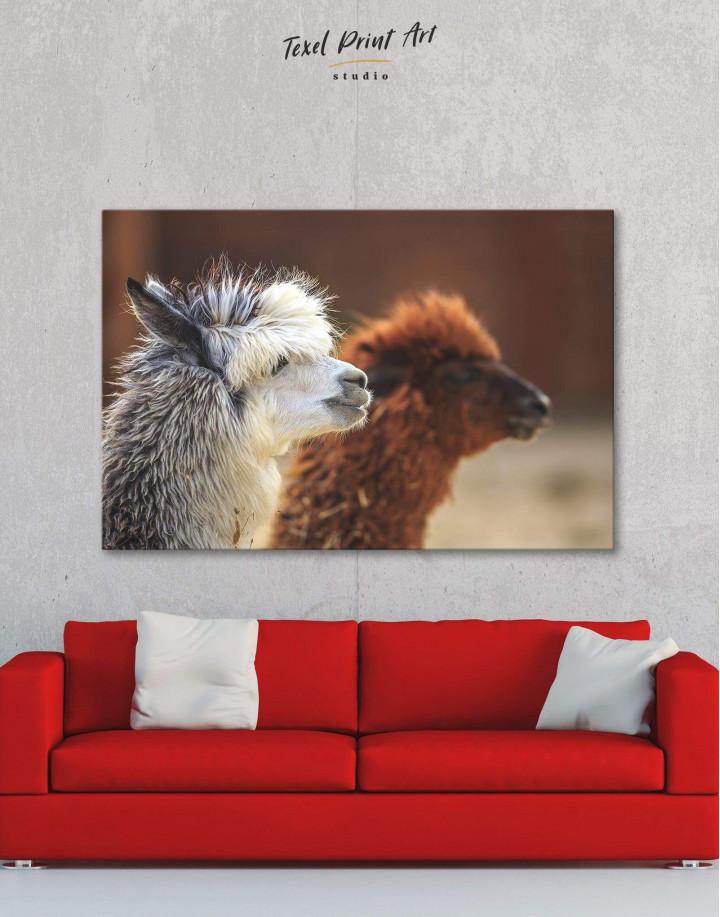 Llama Canvas Wall Art - Image 1