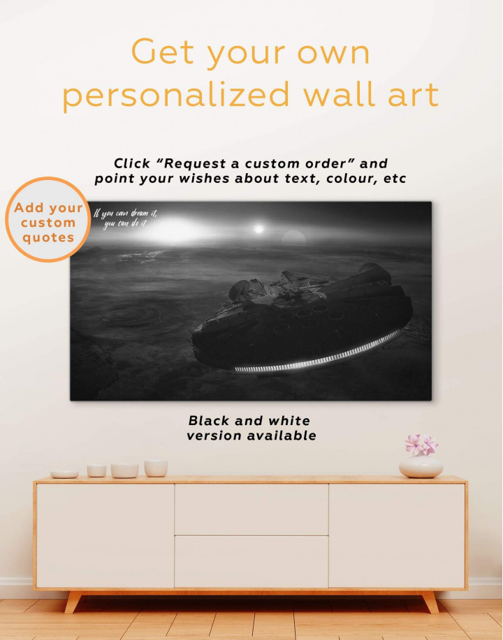 Starship Millennium Falcon Canvas Wall Art - Image 6