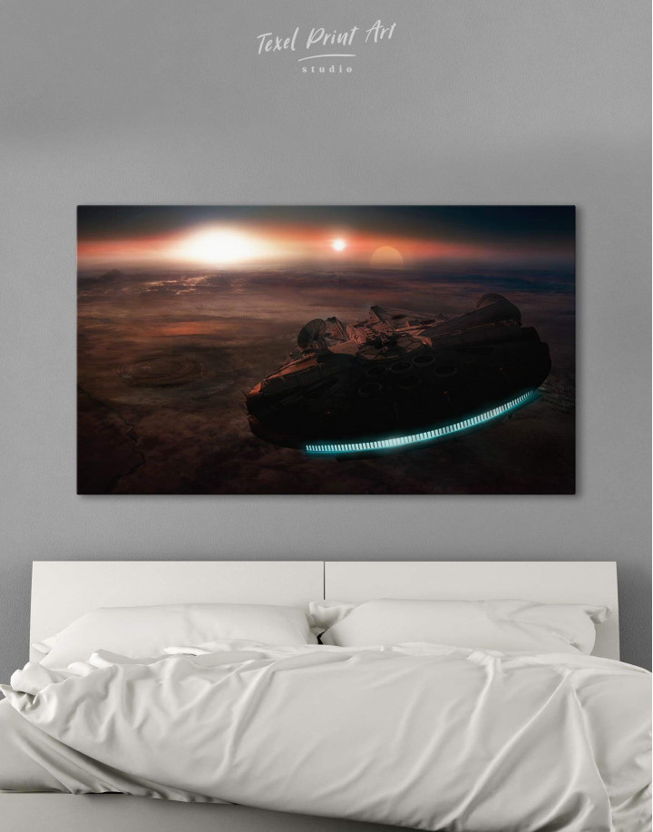 Starship Millennium Falcon Canvas Wall Art - Image 1