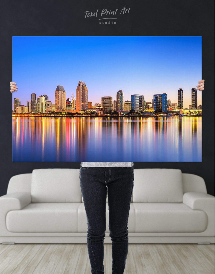 San Diego California Canvas Wall Art - Image 4