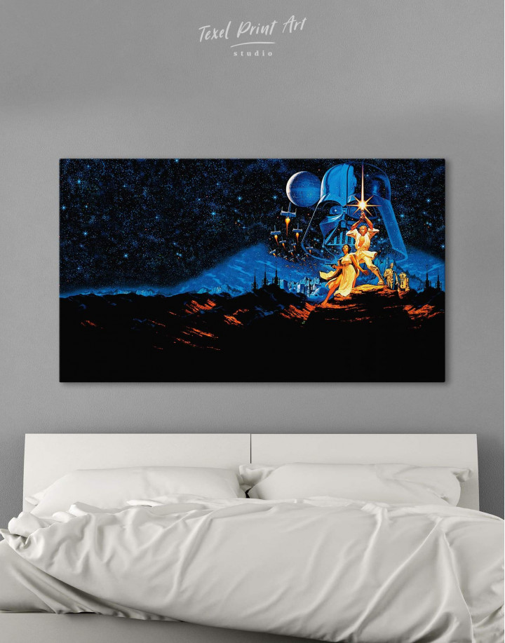 Star Wars Luke and Leia Canvas Wall Art - Image 0