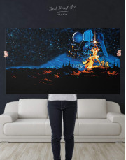 Star Wars Luke and Leia Canvas Wall Art - Image 4