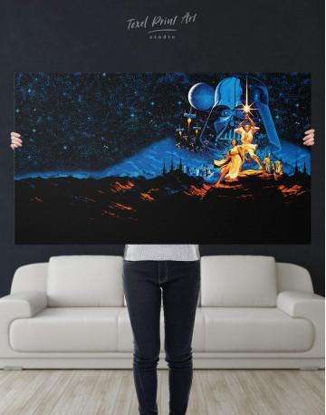 Star Wars Luke and Leia Canvas Wall Art - image 4
