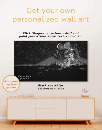 Star Wars Luke and Leia Canvas Wall Art - image 1