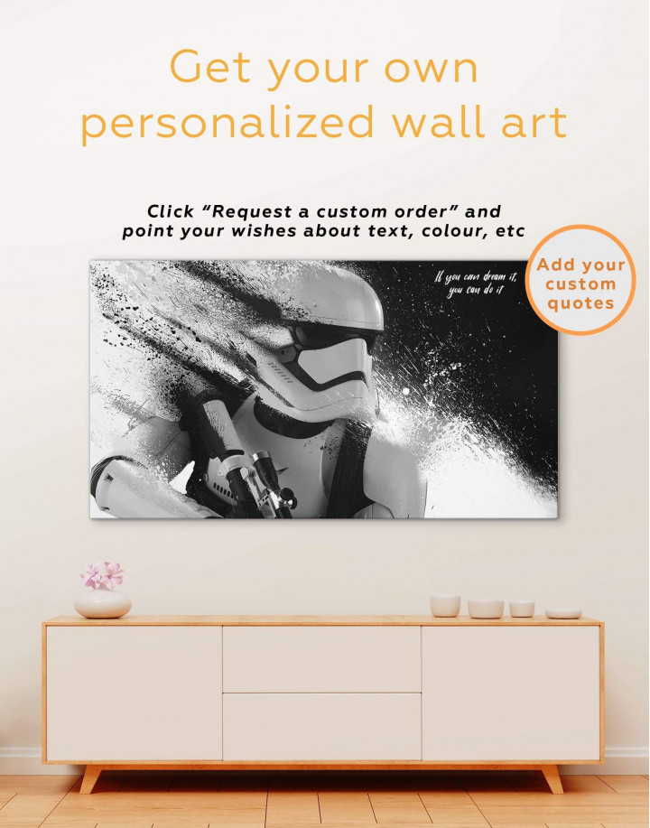 Star Wars Stormtrooper Canvas Wall Art - Image 1