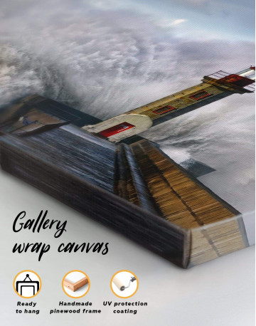 Lighthouse Storm Canvas Wall Art - image 4
