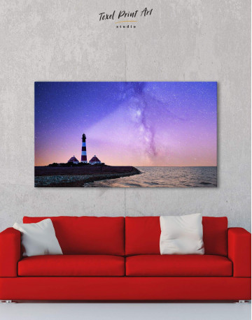 Lighthouse and Space Canvas Wall Art - image 6