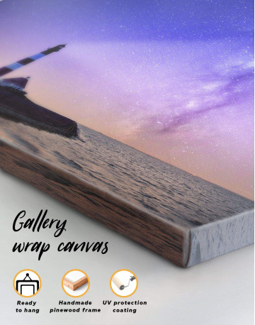 Lighthouse and Space Canvas Wall Art - image 5