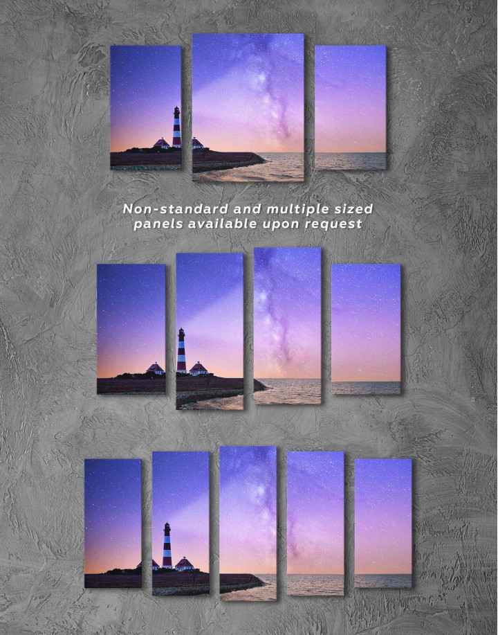 Lighthouse and Space Canvas Wall Art - Image 2