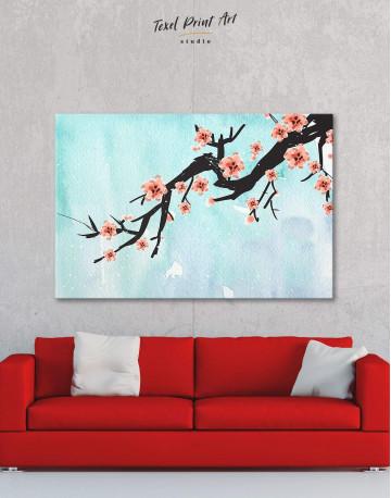 Spring Cherry Blossom Canvas Wall Art