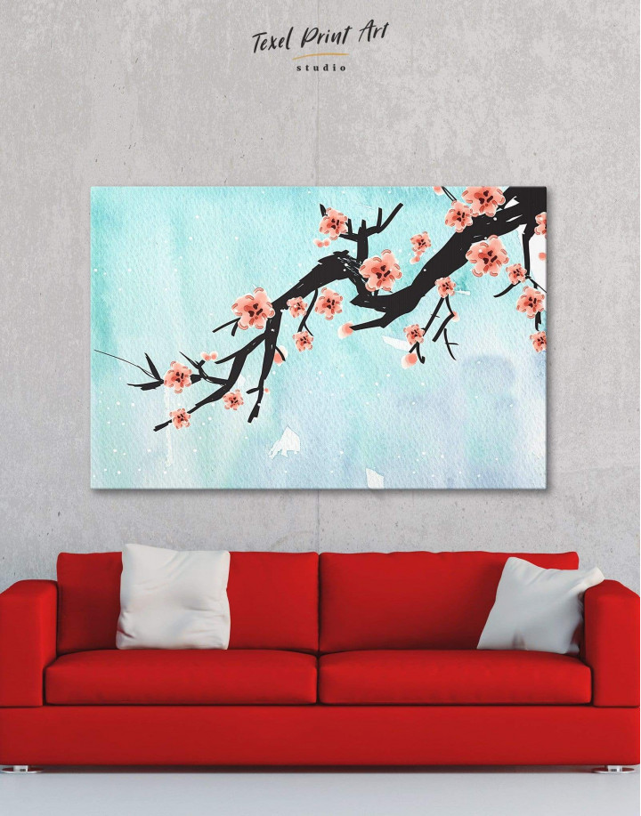 Spring Cherry Blossom Canvas Wall Art - Image 0