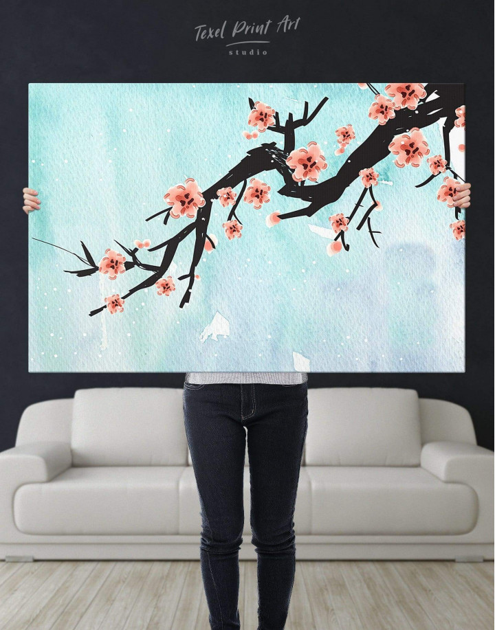 Spring Cherry Blossom Canvas Wall Art - Image 2