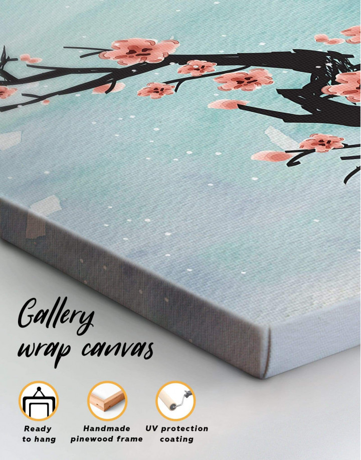 Spring Cherry Blossom Canvas Wall Art - Image 3