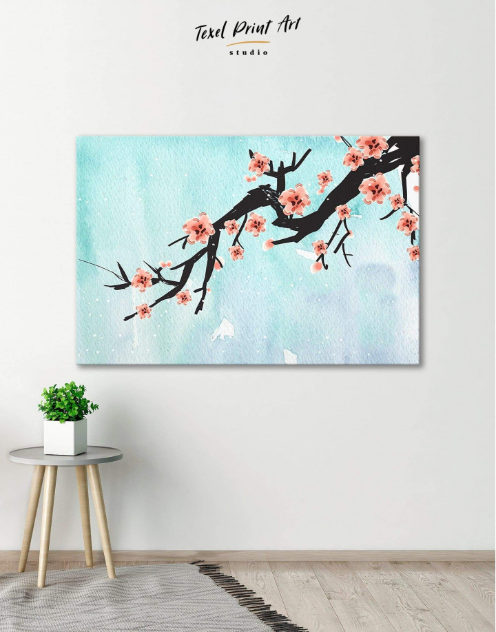 Spring Cherry Blossom Canvas Wall Art - Image 1