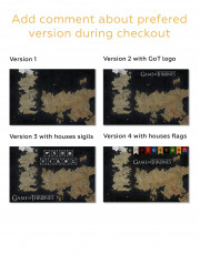 Games of Thrones Map with House Flags Canvas Wall Art - Image 4
