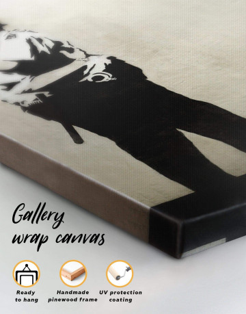 Kissing Coppers Canvas Wall Art - image 1