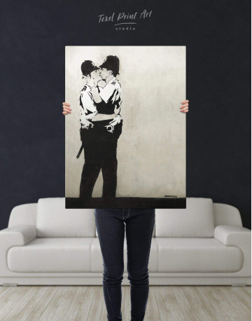 Kissing Coppers Canvas Wall Art - image 2