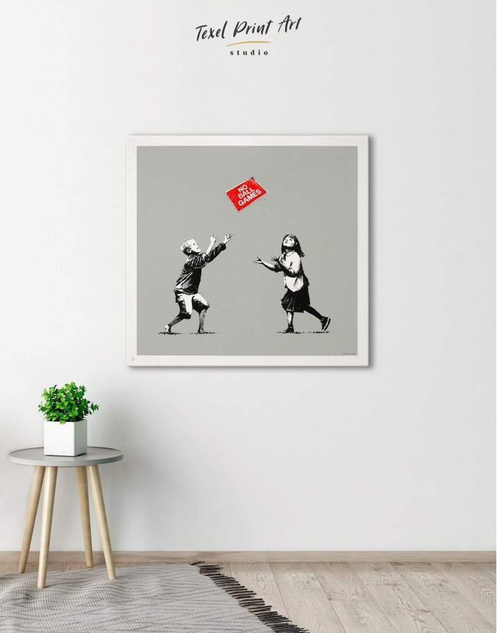 No Ball Games by Banksy Canvas Wall Art - Image 4