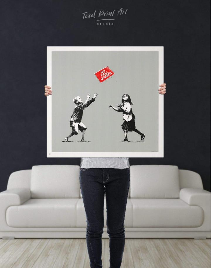 No Ball Games by Banksy Canvas Wall Art - Image 3