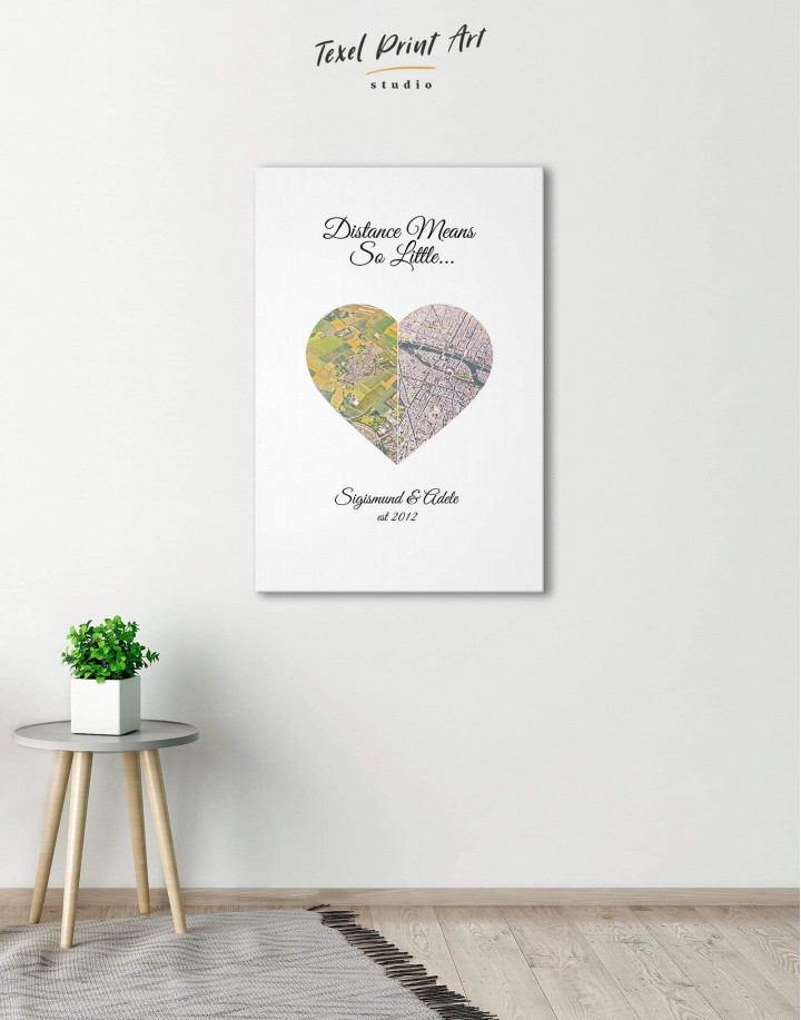 Romantic Map  Canvas Wall Art - Image 0