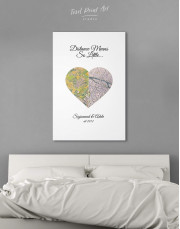 Romantic Map  Canvas Wall Art - Image 3