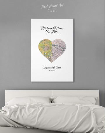 Romantic Map Canvas Wall Art - image 3