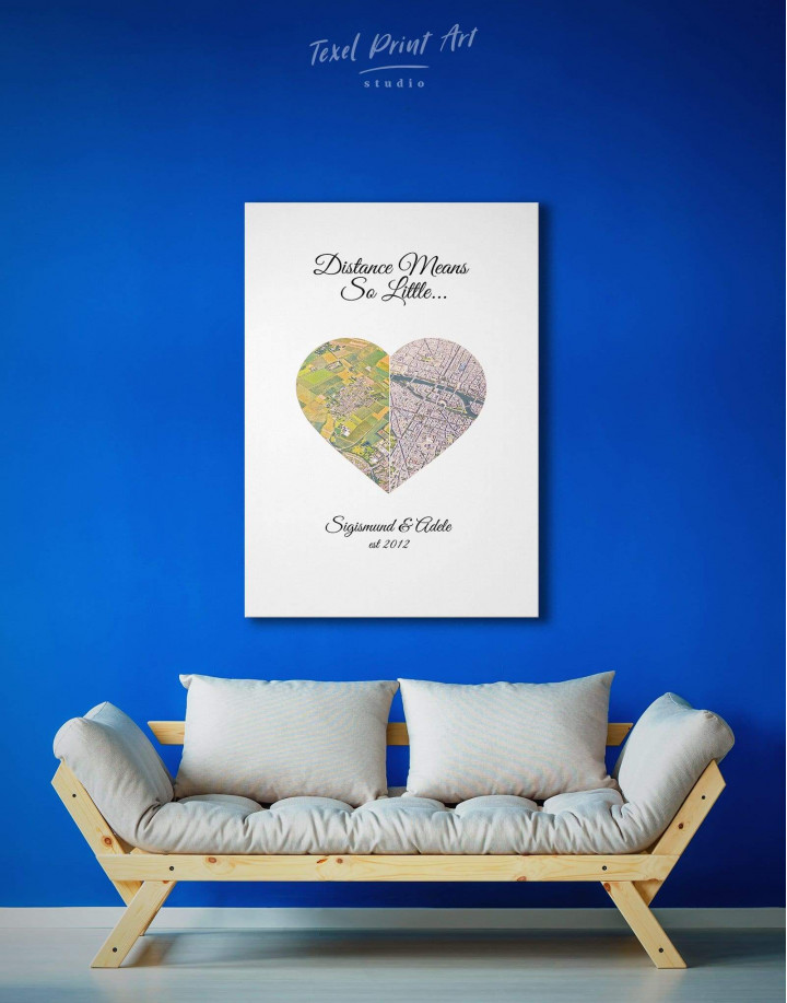 Romantic Map  Canvas Wall Art - Image 2