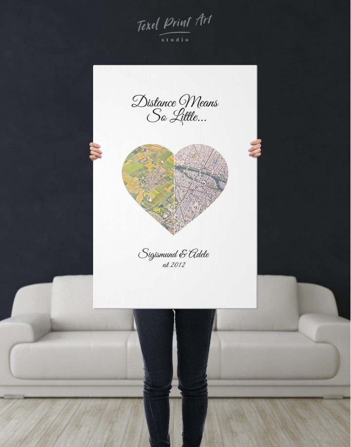 Romantic Map  Canvas Wall Art - Image 4