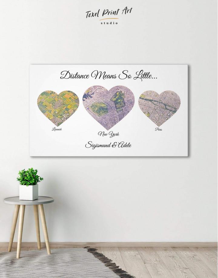 Heart Map  Canvas Wall Art - Image 0