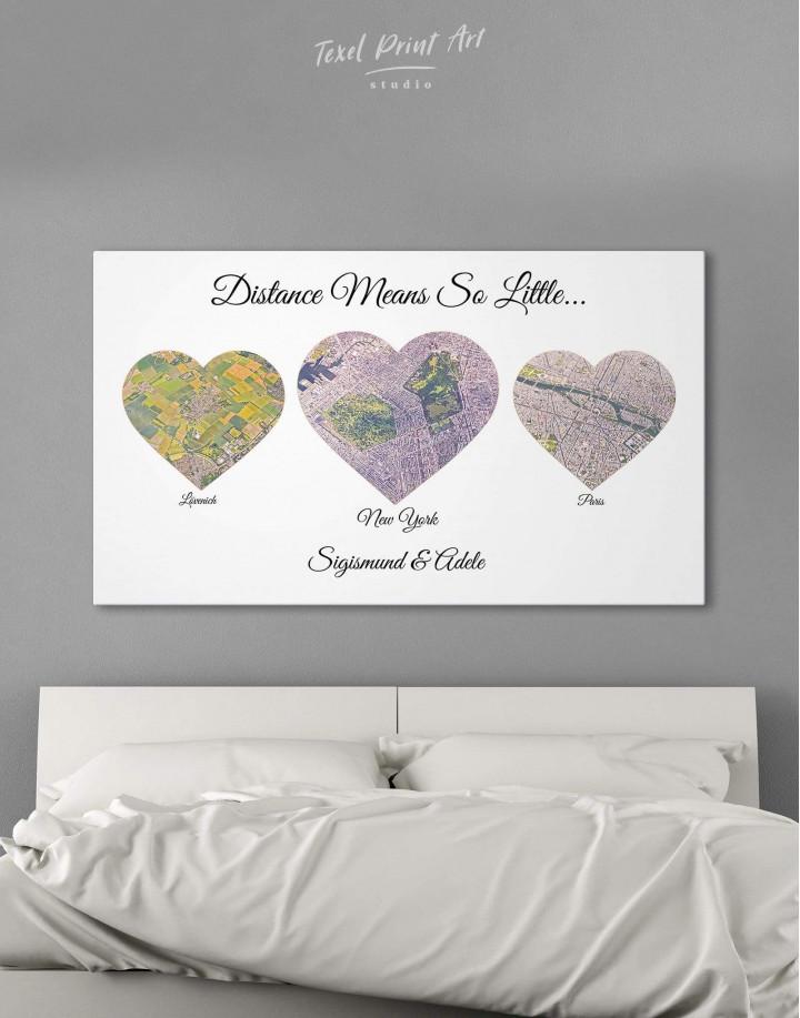 Heart Map  Canvas Wall Art - Image 4
