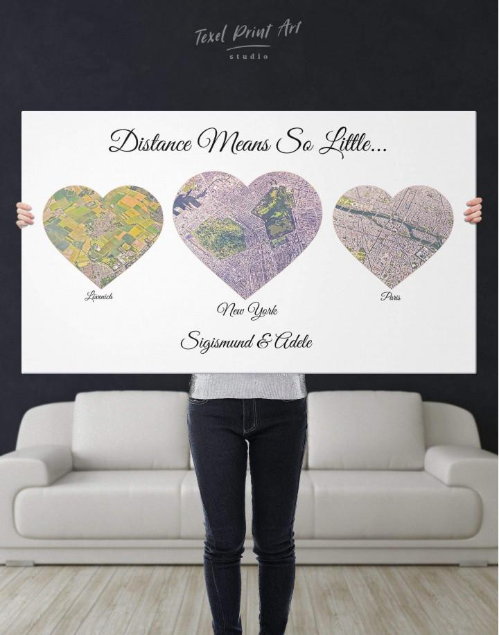 Heart Map  Canvas Wall Art - Image 3