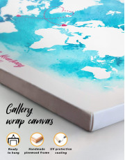 Abstract Relationship Map Canvas Wall Art - Image 3