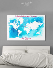 Abstract Relationship Map Canvas Wall Art - Image 1