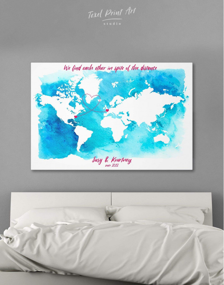 Abstract Relationship Map Canvas Wall Art - Image 6