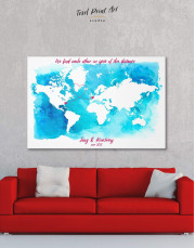 Abstract Relationship Map Canvas Wall Art - Image 0