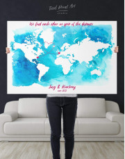 Abstract Relationship Map Canvas Wall Art - Image 2