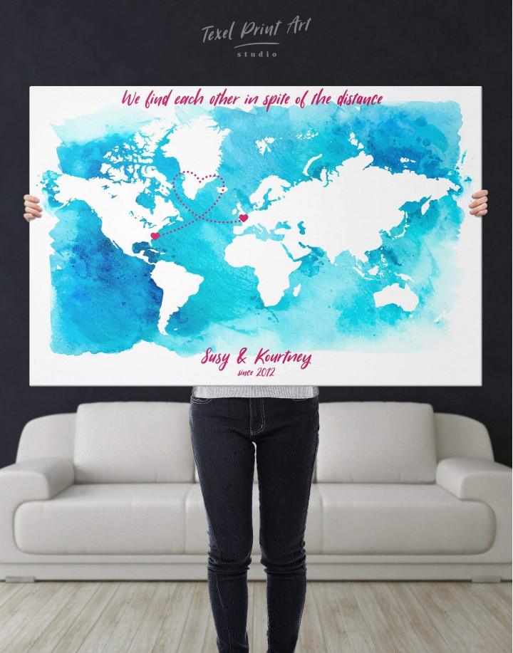 Abstract Relationship Map Canvas Wall Art - Image 5