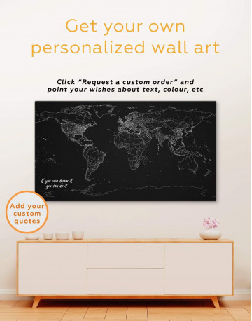 Abstract Map With Lights Canvas Wall Art - image 1