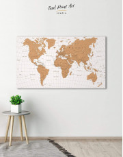 Gold Detailed World Map  Canvas Wall Art - Image 5